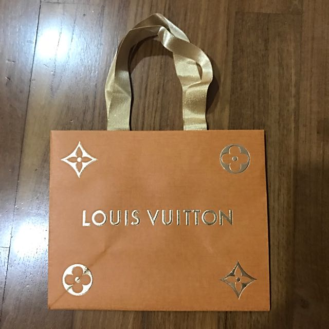 830f7f9ab85 Lv Xmas special ed paper bag, Luxury, Bags   Wallets on Carousell