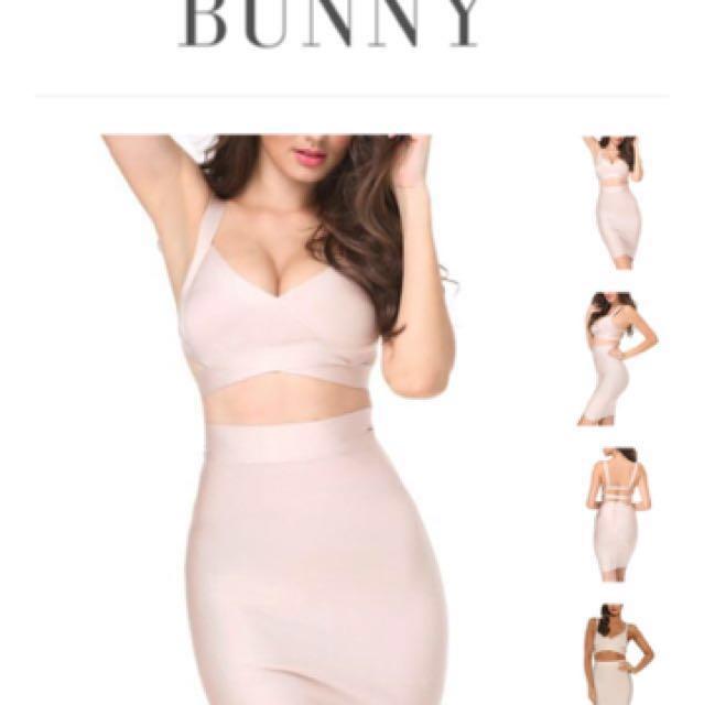 LVST Bunny Nude Two Piece Bandage Set