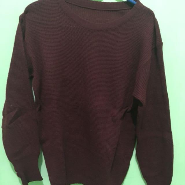 Maroon Roundhand Sweater