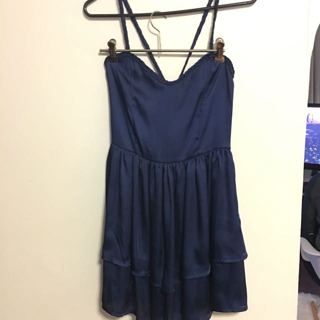 Maxim dress navy blue size Small