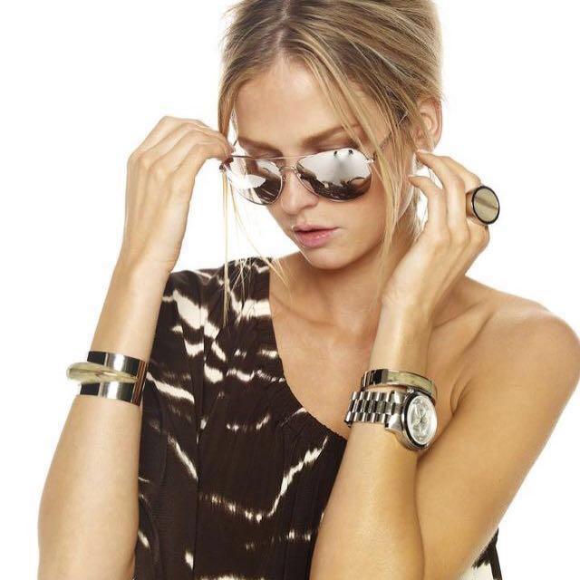 美國Michael Kors MK8086 oversized計時三眼腕錶手錶銀色