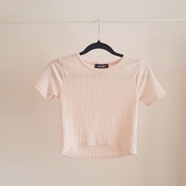 Missguided baby pink crop