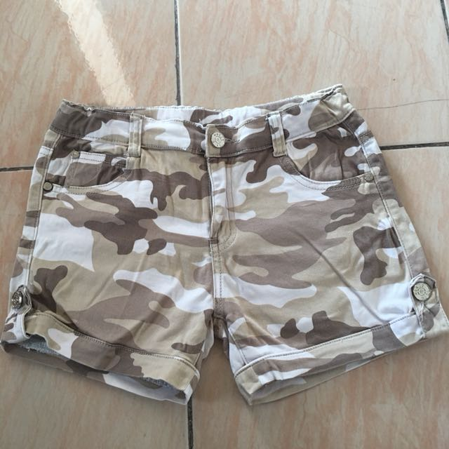 Moose Girl Camo Shorts