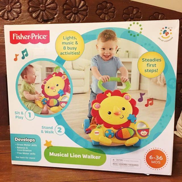 NEW - Fisher Price Musical Lion Walker