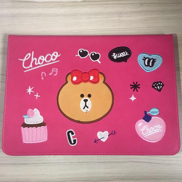 New iPad 2017 9.7 繽紛熊 choco 保護套
