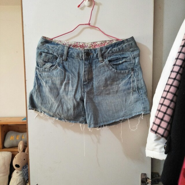Nice claup日本專櫃牛仔短褲