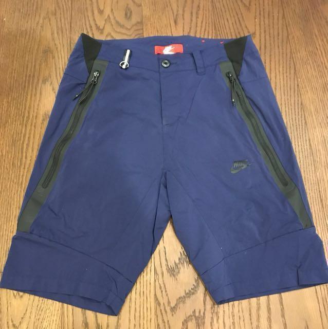 Nike sport wear 深藍短褲 TECH WOVEN SHORT#運動用品可超取