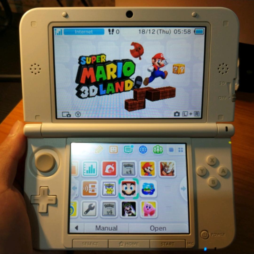 Nintendo 3DS XL Pearl White + 16 Games (digital ver.) BARGAIN!