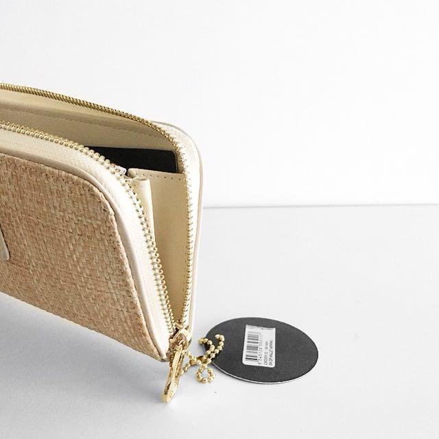 Nude colette woven wallet