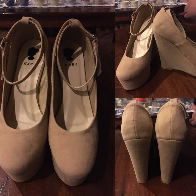 Nude Platform Wedge