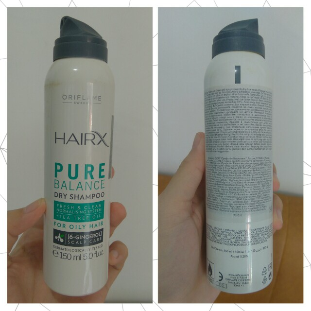 (Free Ong Jabodetabek) Oriflame Hair X Pure Balance Dry Shampoo. Fresh&Clean Normalising System. Tea Tree Oil. For Oily Hair. 6-Gingerol. Scalp Care. Dermatologically Tested. Isi 150 ml.