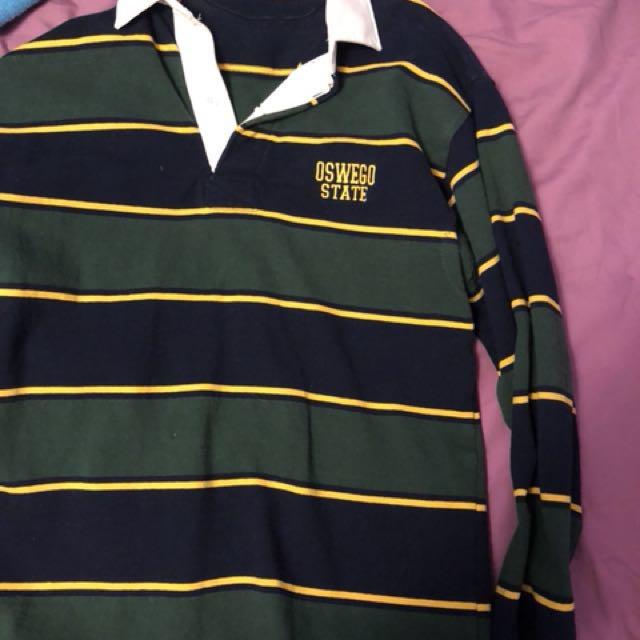 Oswego state university football sweater