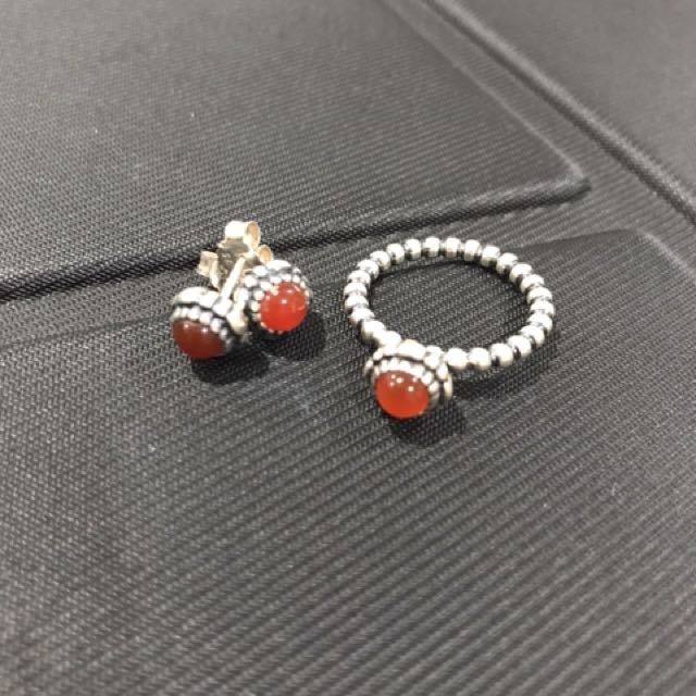Pandora July birthstone set- ring size 52