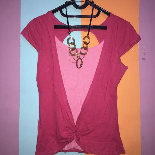 Pink Asymmetric Blouse