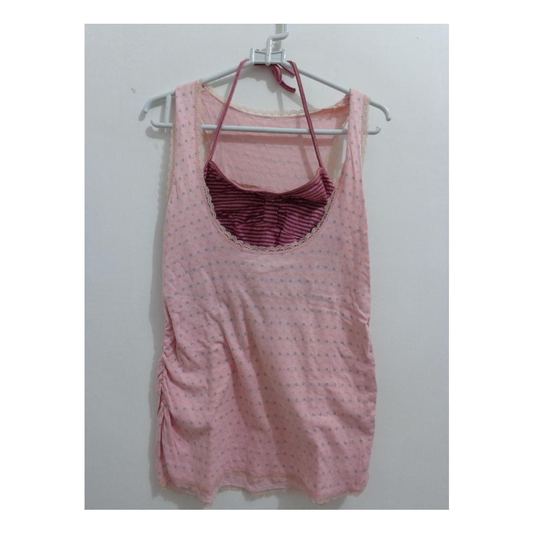 Pink Tank Top / Atasan Merah Muda