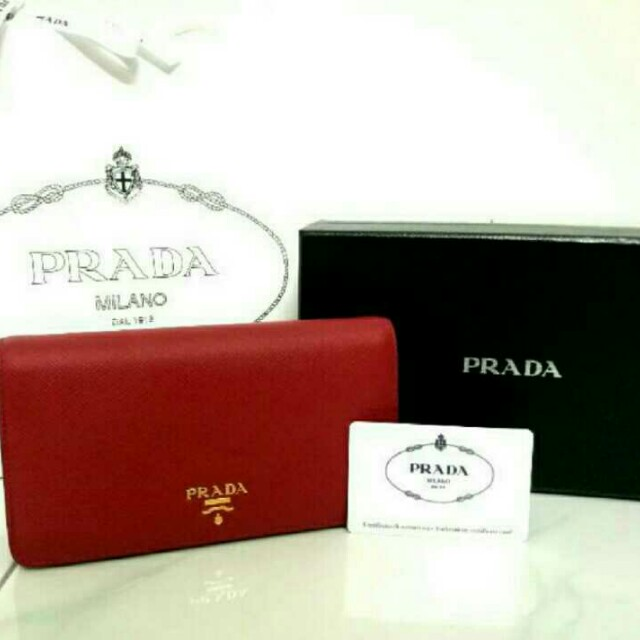 3204f7cdd39a Prada Red WOC, Luxury, Bags & Wallets on Carousell