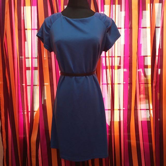 Pre-loved Dorothy Perkins Shift Dress (Blue)