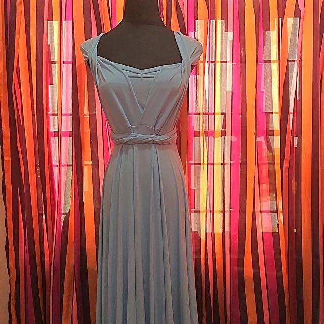 Pre-loved Infinity Dress (Pastel Blue)