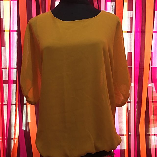 Pre-loved Yellow Sheer Blouse