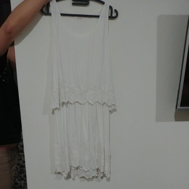 Promod white jumpsuit