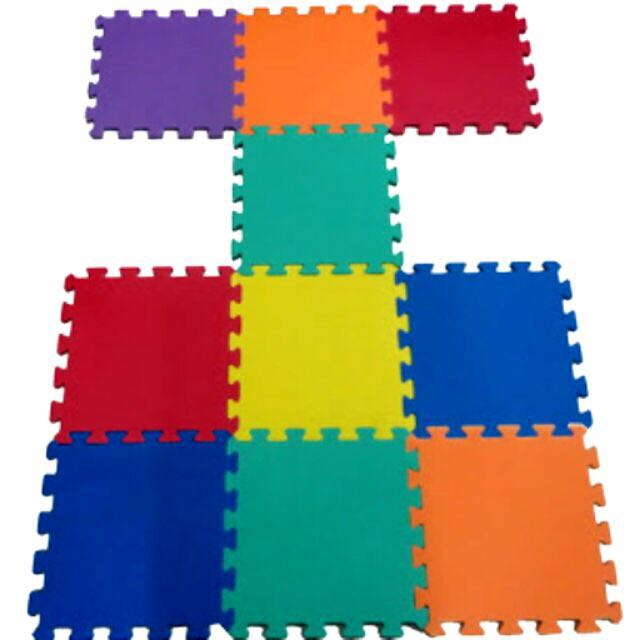 Puzzle Mat Assorted Colors 10pcs
