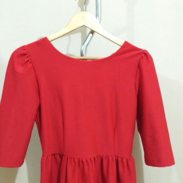 Red dress (backless)