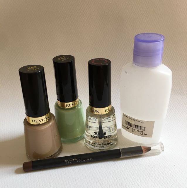 Revlon nail and Fashion brow maybelline brown