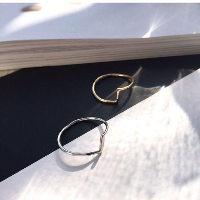 Ring.簡約不規則線條戒指