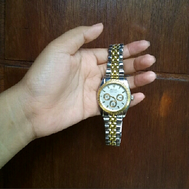 Rolex Oyster Silver Gold Kw #midnightsale