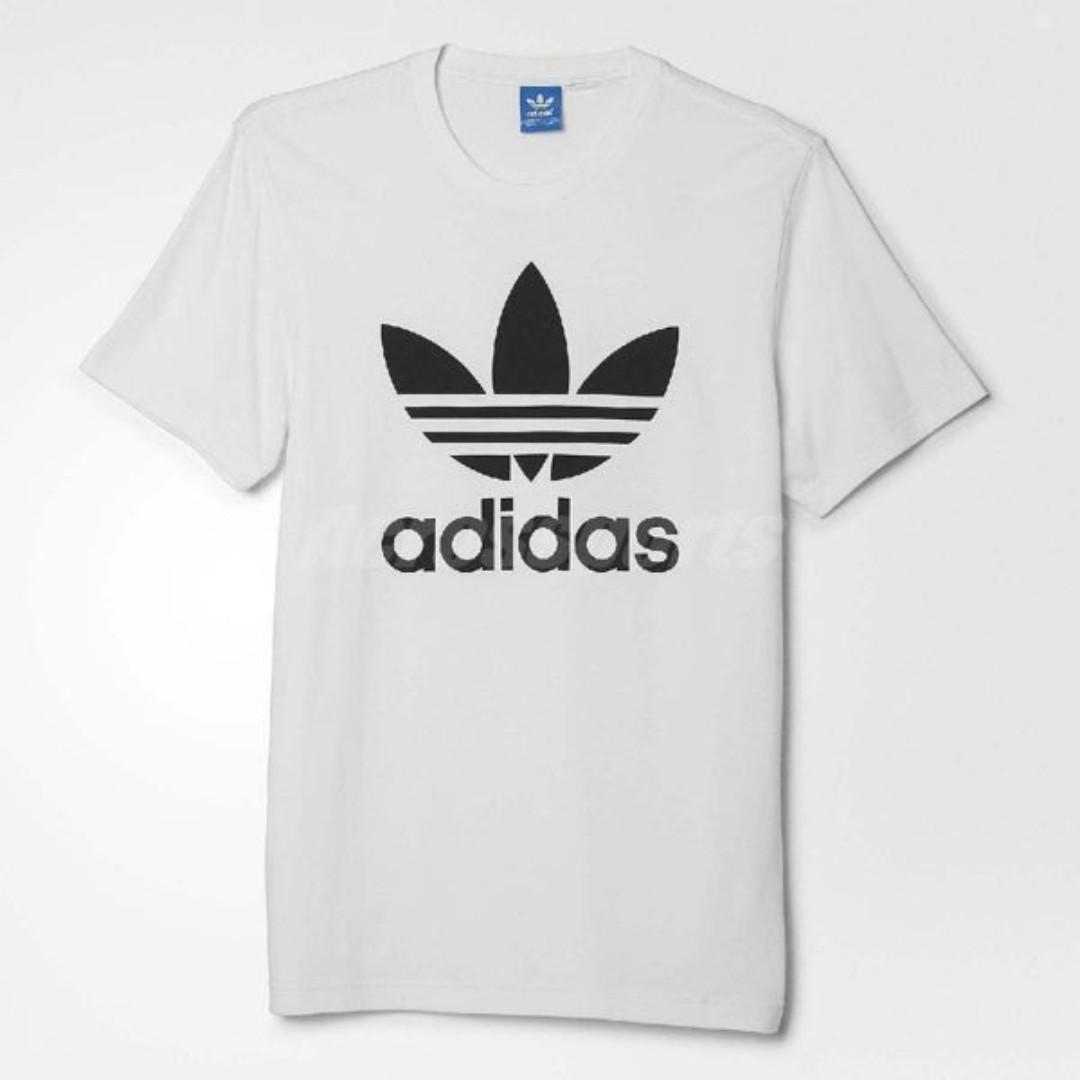 現貨S號   adidas Originals Trefoil Tee 白 黑 三葉草 LOGO 短T 短袖上衣 男款