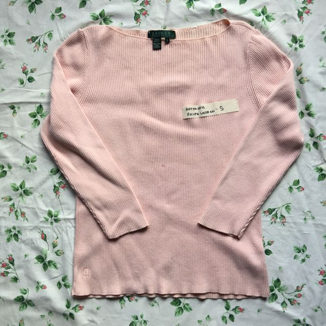Salmon Pink Ralph Lauren Top SMALL