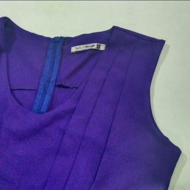 Salt and Pepper Purple Flare Dress