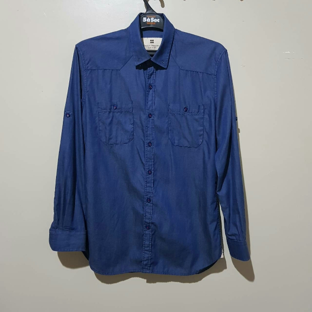 Salt n Pepper Blue L/S Shirt