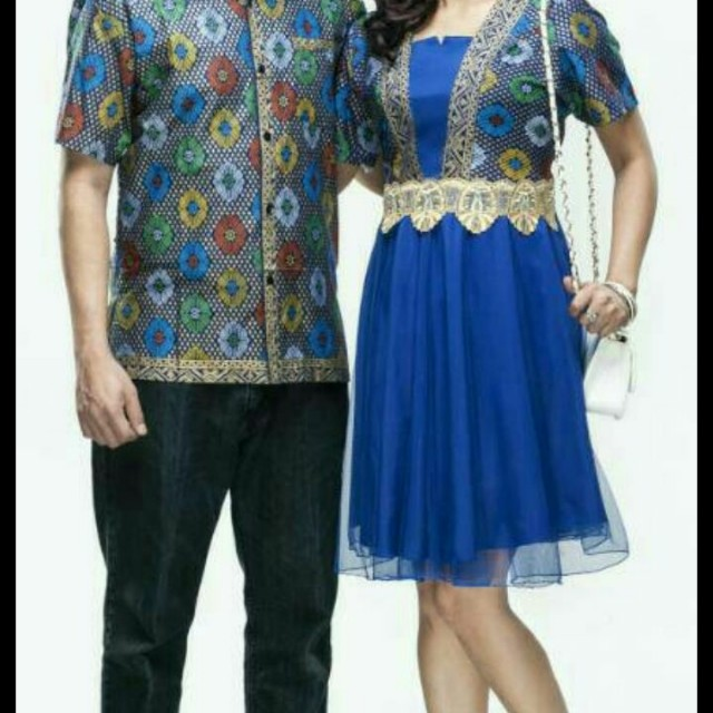 Sarimbit batik couple dress