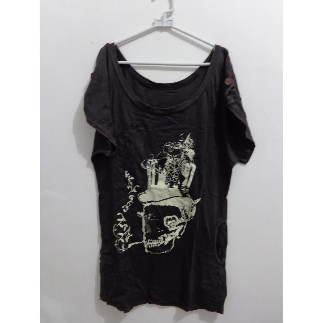 Skull Dark Grey Mini Dress