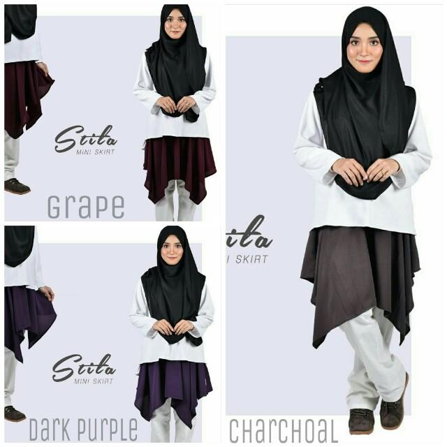 fcb425c6f Stila Mini Skirt / Skirt Pendek, Muslimah Fashion, Bottoms on Carousell