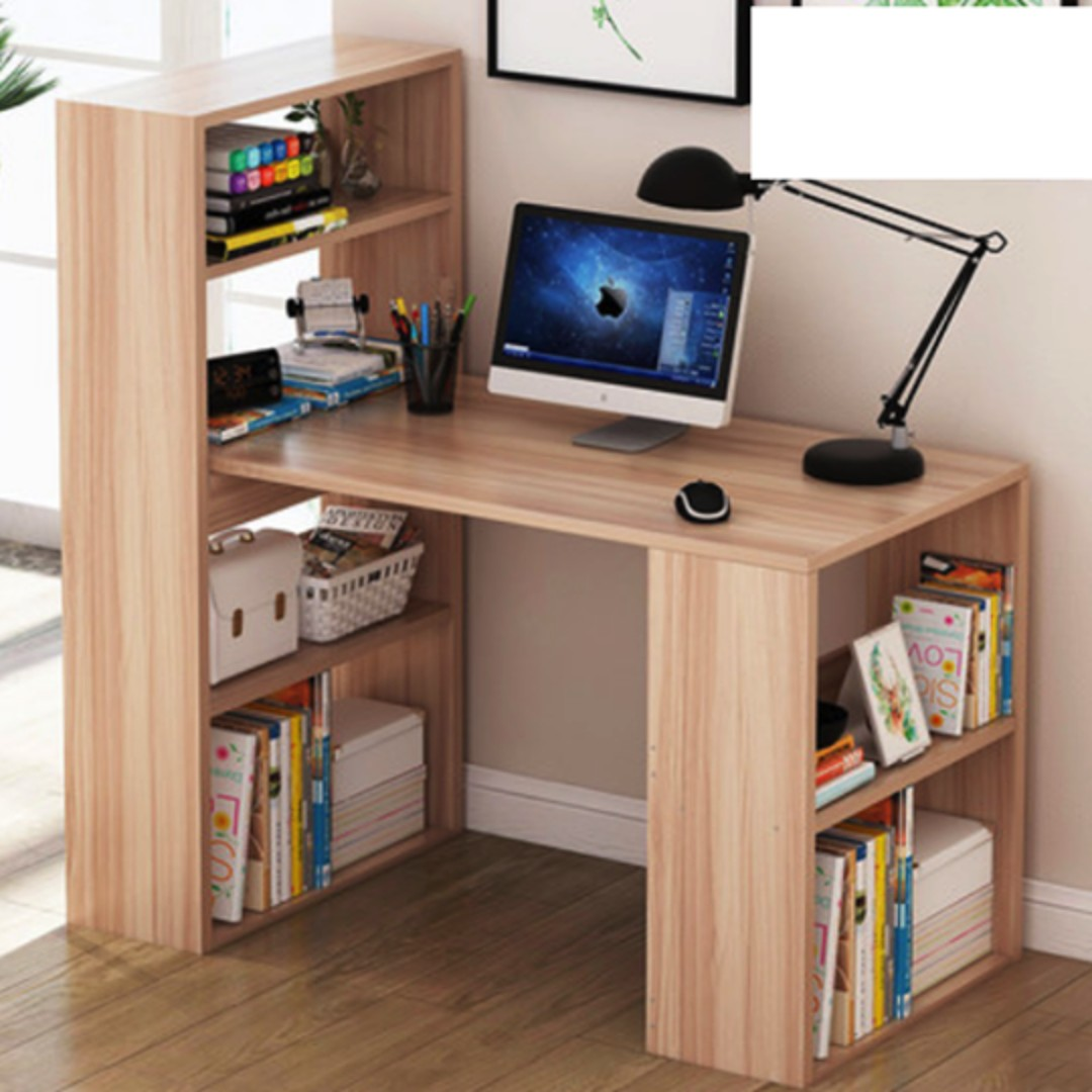 Study Table With Attached Bookshelves Home Furniture On Carousell