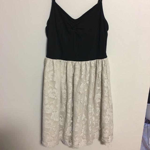 Supre black & white lace dress