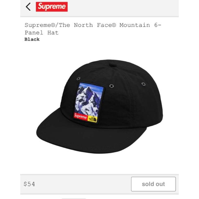Supreme The North Face 6 Panel Hat