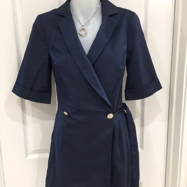 Sweet pot navy wrap playsuit brand new size 6,8&12