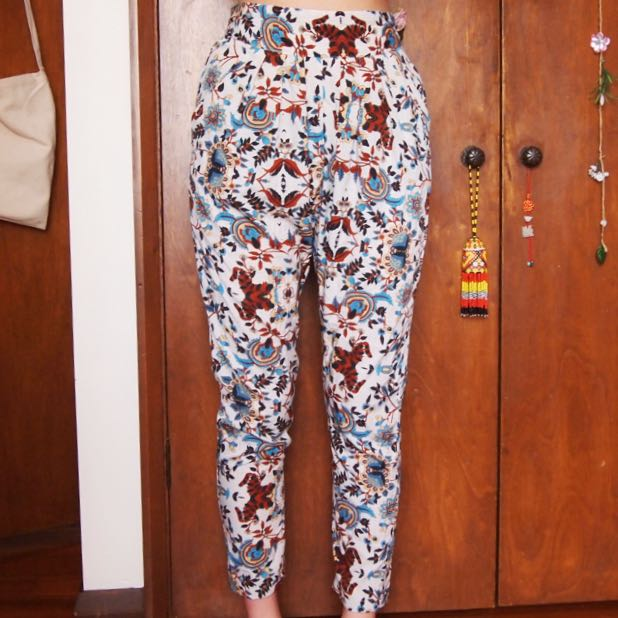 Tapered Paisley Trousers