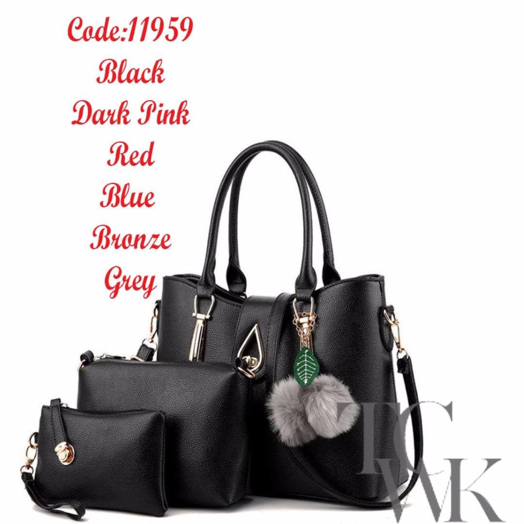 TCWK Korea Style Set of 3 Ladies HandBag 06213bbc6354b