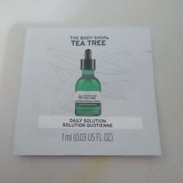 The body shop tea tree daily solution serum 1ml sample