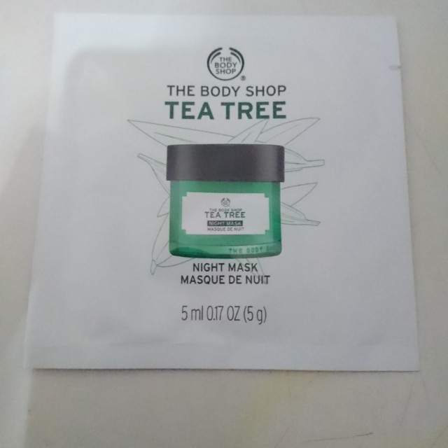 The body shop tea tree night mask 5ml sample
