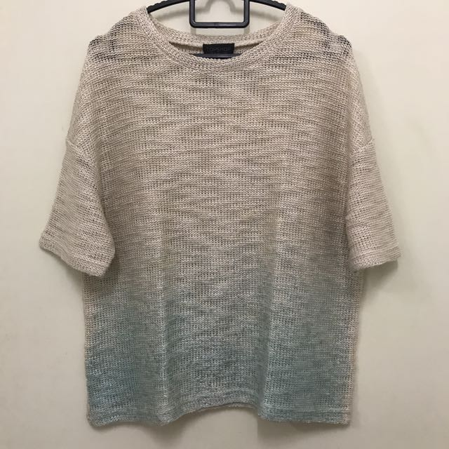 Topshop Ombré Knitted Top