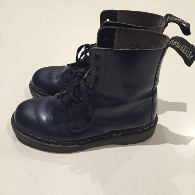 Tredair Blue 'dr Martens' Boots