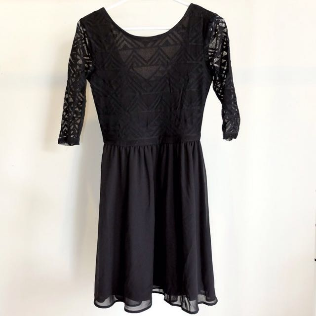 Tribal Black Mini Dress - H&M Divided