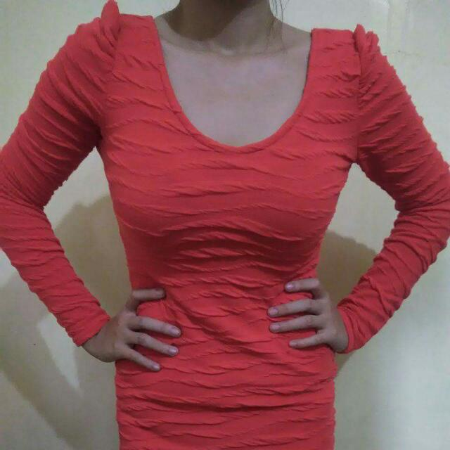 Unbranded Longsleeves Fitted Dress