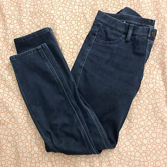 Uniqlo Denim Blue Jeans/Tights