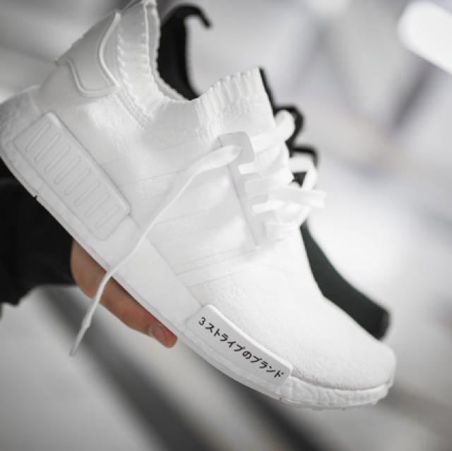 a3cef644cb1fd US4-12 Adidas NMD R1 PK Triple White Japan